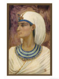 Queen Hatshepsut Widow of Thutmose II Regent for and Later Co-Ruler with Her Stepson Thutmose III Giclee Print by Winifred Brunton