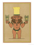 Bes, Dwarf-God of Egypt Giclee Print by E.a. Wallis Budge