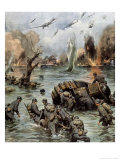 Dunkirk Evacuation Giclee Print by Achille Beltrame