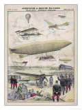 Various Aircraft 1912 Giclee Print by G. Bigot