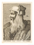 Leonardo Da Vinci Italian Painter Sculptor Architect Engineer and Scientist Giclee Print by Nicolas de Larmessin