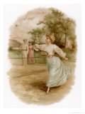 Graceful Backhand in a Victorian Garden Giclee Print by Ellen H. Clapsaddle