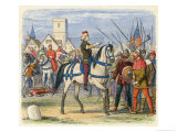 Richard II Mounted on a Horse Meets the Rebels Giclee Print by Richard Doyle