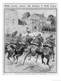 Cavalry Fight in a French Village. British Hussars Rout German Cuirassiers Giclee Print by Philip Daud