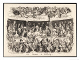 """Pit Boxes and Gallery"" in a London Theatre Giclee Print by George Cruikshank"