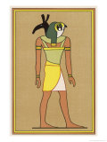 In Some of His Many Forms the Falcon-God Horus Takes on the Attributes of Other Deities Giclee Print by E.a. Wallis Budge