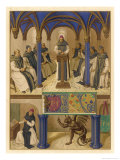 Thomas Aquinas Noted Theologian Depicted Instructing a Group of Clerics Giclee Print by Jean Fouquet