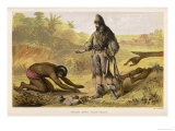 Crusoe Rescues Friday Killing the Cannibals Giclee Print by William Dickes