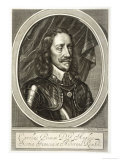 Charles I of England in Armour Giclee Print by G. Faithorne