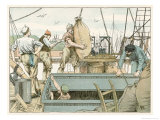 Stevedores at Work Giclee Print by Francis Bedford