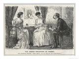 Satire on the Higher Education of Women Giclee Print by George Du Maurier