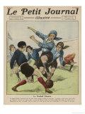 Femina-Sport Versus les Cadettes de Gascoigne at Paris Giclee Print by Andre Galland