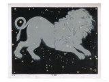 The Constellation of Leo the Lion Giclée-Druck von Charles F. Bunt