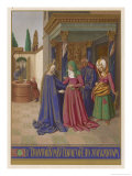 Mary Finding Herself Pregnant Visits Her Friends Elizabeth and Zechariah Giclee Print by Jean Fouquet