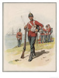 Royal Marine Light Infantry a Private in Marching Order Giclee Print by Frank Dadd