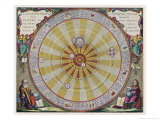 Copernicus&#39;s System Gicl&#233;e-Druck von Andreas Cellarius