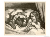 She Could Not Help Noticing How Strangely Her Grandmother Seemed to be Altered Giclee Print by Gustave Doré