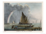 Nimbus, or Rain Cloud, Forming out at Sea Beyond the Fishing Boats Giclee Print by Charles F. Bunt