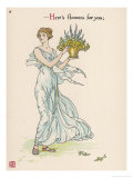 Heres Flowers for You! Giclee Print by Walter Crane