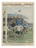 England Versus Italy at Highbury Premium Giclee Print by A. Brivio
