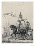 Jeanne D&#39;Arc Rides to Meet Charles VII at Chinon Giclee Print by E. Fremiet