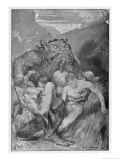 Grendel and Victims Premium Giclee Print by John Henry Frederick Bacon