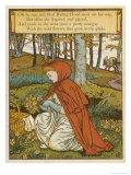 Red Riding Hood Makes a Pretty Nosegay with Wild Flowers from the Glade Giclee Print by Walter Crane