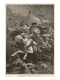The Huns Invade Europe and Gradually Fight Their Way Westwards from About 376 Till They are Halted Premium Giclee Print by Alphonse De Neuville