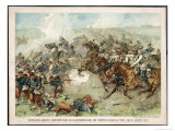 The Prussian Cavalry Charge at Vionville-Mars-La-Tour Giclee Print by F. Amling