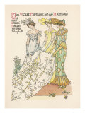 Flower Wedding Described by Two Wallflowers Giclee Print by Walter Crane