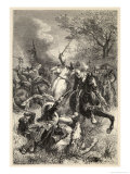 Battle of Marston Moor a Fierce Battle Between Mounted Soldiers Giclee Print by Emile Bayard