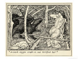 The Queen is Terrified by a Small Dragon Giclee Print by Henry Justice Ford