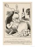 Richard Wagner German Composer in a Satirical Comment Giclée-tryk af André Gill
