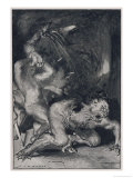 Beowulf Who Has the Strength of Thirty Men Rips off the Arm of Grendel the Monster Giclee Print by John Henry Frederick Bacon