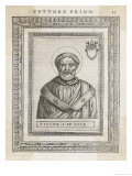 Pope Victor I Pope and Saint Giclee Print by  Cavallieri