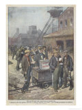 After a Secret Ballot British Miners Decide to Go on Strike Giclee Print by Achille Beltrame