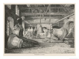 The Bell-Foundry at Laibach Austria Giclee Print by Hugo Charlemont