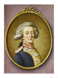 Marie-Joseph-Paul-Yves-Roch Gilbert Du Motier De La Fayette French Soldier and Statesman Giclee Print by Danloux 