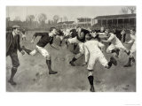 England Versus Ireland at Richmond Giclee Print by H. Burgess