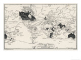 Map of the World Showing British Empire Possessions Premium Giclee Print by J.g. Bartholomew