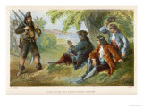 Crusoe Offers His Assistance to the English Captain and Helps to Recover His Vessel Giclee Print by William Dickes