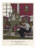 Secretary Takes Dictation from Her Boss in a Sumptuous Office Giclee Print by Pierre Brissaud