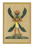 Moon-God of Thebes Depicted in Various Forms Giclee Print by E.a. Wallis Budge