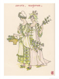 With Satureja Savory and Marjoram Personified Giclee Print by Walter Crane