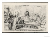 Smoking Club a Play on the Word Smoke Giclee Print by James Gillray