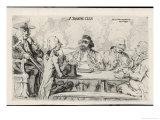 Smoking Club a Play on the Word Smoke Giclee Print by James Gillray