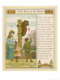 Little Boy Feeds Buns to a Baby Bear Giclee Print by Thomas Crane