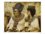 Amenhotep III and Tiy Giclee Print by Winifred Brunton