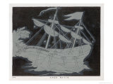 The Constellation Arco Navis Which Takes the Form of a Sailing Ship Giclee Print by Charles F. Bunt