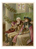 Three Generations in a Church Pew at Christmas Time Giclee Print by Phillips Brooks